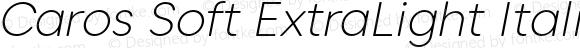 Caros Soft ExtraLight Italic