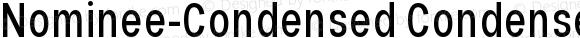 Nominee-Condensed Condensed