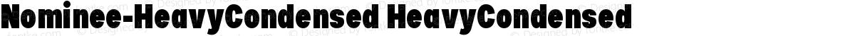 Nominee-HeavyCondensed HeavyCondensed