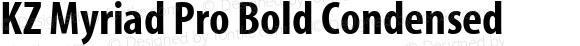 KZ Myriad Pro Bold Condensed
