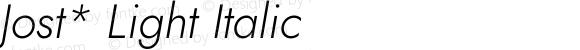 Jost* Light Italic