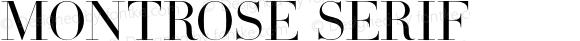 Montrose Serif
