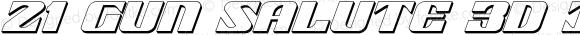 21 Gun Salute 3D Italic Italic