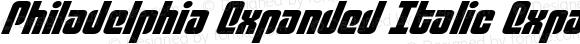 Philadelphia Expanded Italic Expanded Semi-Italic