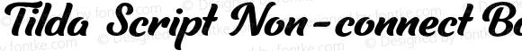 Tilda Script Non-connect Bold