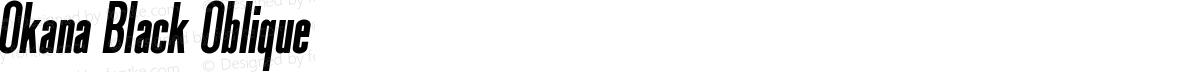 Okana Black Oblique