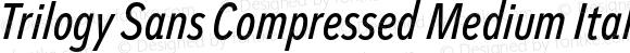 Trilogy Sans Compressed Medium Italic