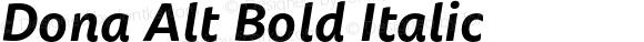 Dona Alt Bold Italic