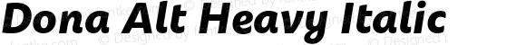 Dona Alt Heavy Italic