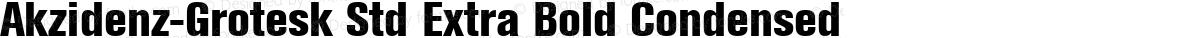 Akzidenz-Grotesk Std Extra Bold Condensed