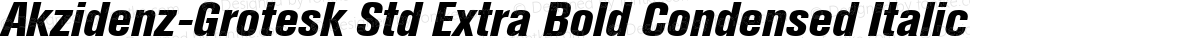 Akzidenz-Grotesk Std Extra Bold Condensed Italic