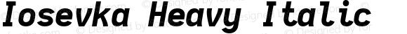 Iosevka Heavy Italic