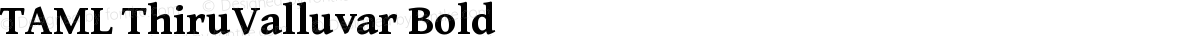TAML ThiruValluvar Bold