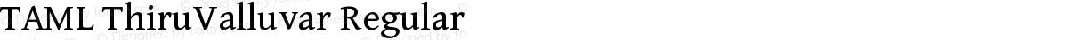 TAML ThiruValluvar Regular
