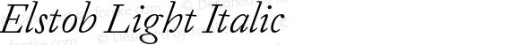 Elstob Light Italic