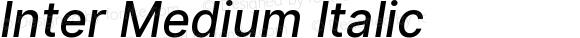 Inter Medium Italic