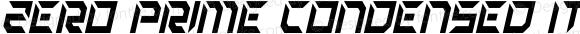 Zero Prime Condensed Italic