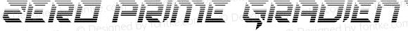 Zero Prime Gradient Italic