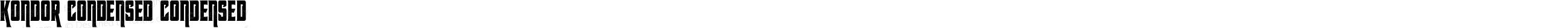 Kondor Condensed