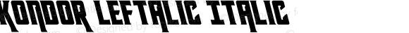 Kondor Leftalic Italic