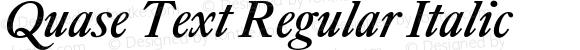 Quase Text Regular Italic