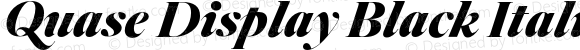 Quase Display Black Italic