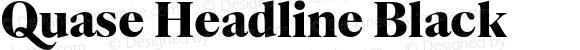 Quase Headline Black