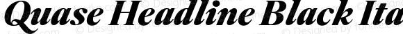 Quase Headline Black Italic