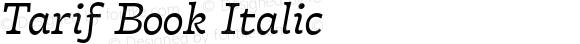 Tarif Book Italic