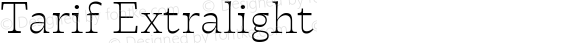 Tarif Extralight