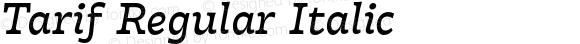 Tarif Regular Italic