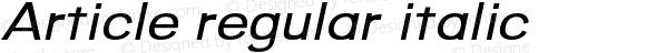 Article regular italic