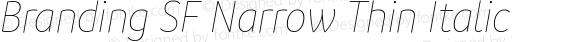 Branding SF Narrow Thin Italic