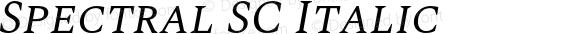 Spectral SC Italic