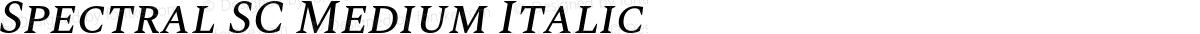 Spectral SC Medium Italic