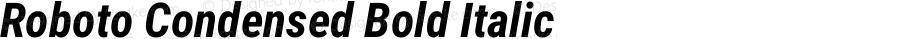 Roboto Condensed Bold Italic