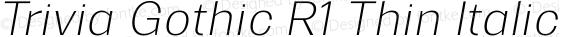 Trivia Gothic R1 Thin Italic