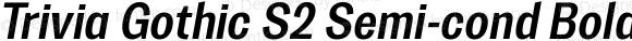 Trivia Gothic S2 Semi-cond Bold Italic