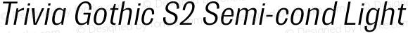Trivia Gothic S2 Semi-cond Light Italic