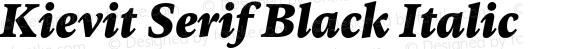 Kievit Serif Black Italic
