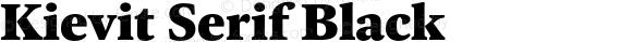 Kievit Serif Black