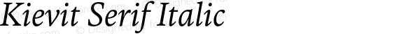 Kievit Serif Italic