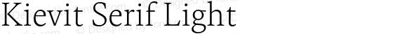 Kievit Serif Light
