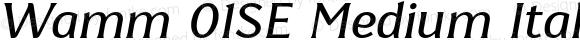 Wamm 01SE Medium Italic