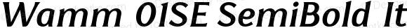 Wamm 01SE SemiBold Italic