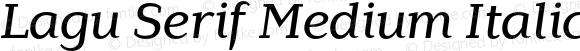 Lagu Serif Medium Italic