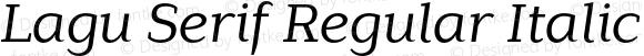 Lagu Serif Regular Italic