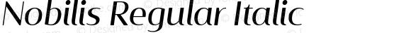 Nobilis Regular Italic
