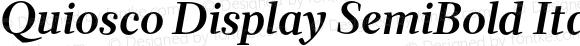Quiosco Display SemiBold Italic