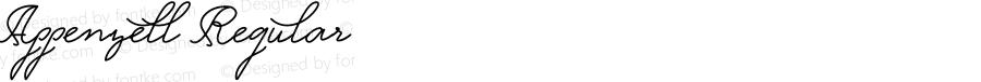 Appenzell Regular Version 1.002;Fontself Maker 1.1.0